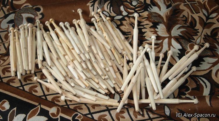 Коклюшки, плетение кружева, Вересовые