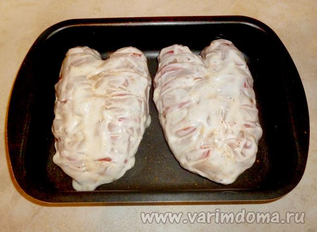 Куриная грудинка духовке рецепт фото