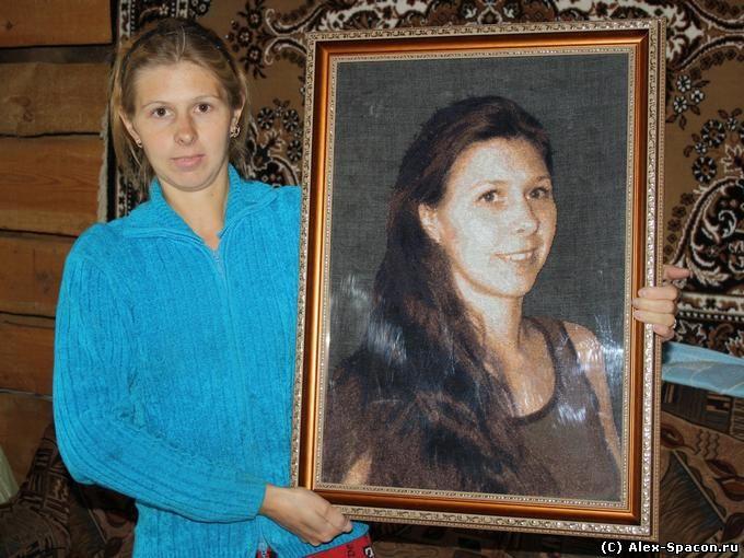 Вышивка портретов по фото крестом